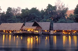 river kwai jungle raft resort, thailand