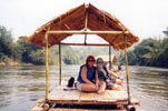 raft down the river kwai, kanchanaburi